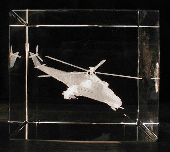 Вертолет в стекле