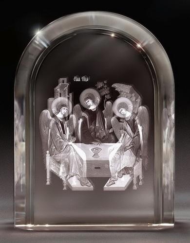 Икона в стекле - святые