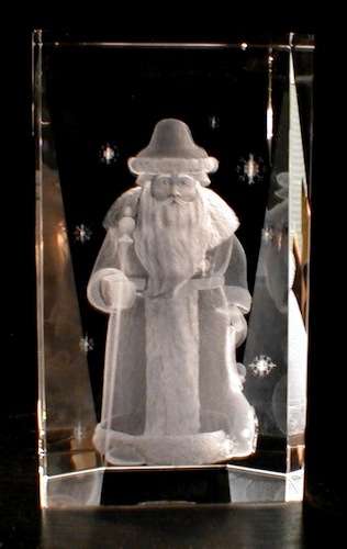 Дед Мороз в стекле