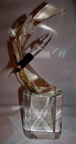 Стеклянная форма - подставка для ручки